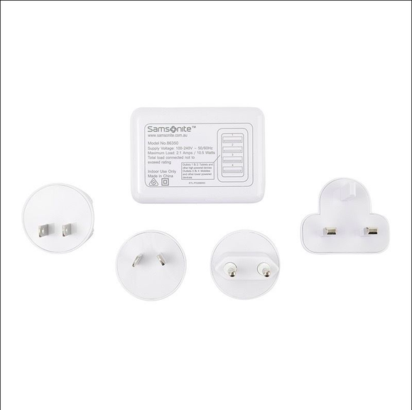 Samsonite Universal 4 Port USB Travel Adaptor