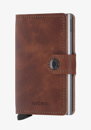 SECRID MINIWALLET BROWN VINTAGE