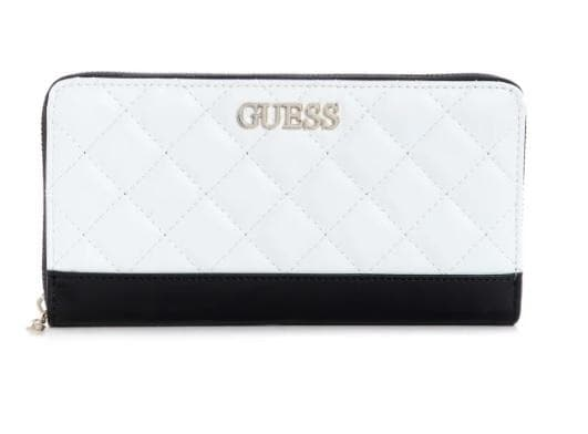 GUESS SLG ILLY CHEQUE ORGANIZER WHITE MULTI