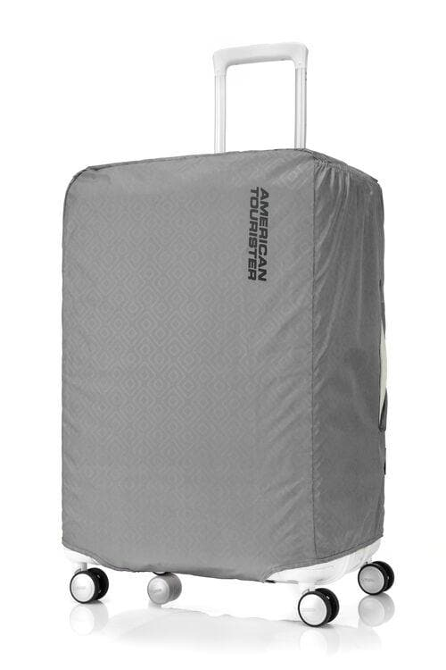 AMERICAN TOURISTER ANTIMICROBIAL LUGGAGE COVER MEDIUM GREY