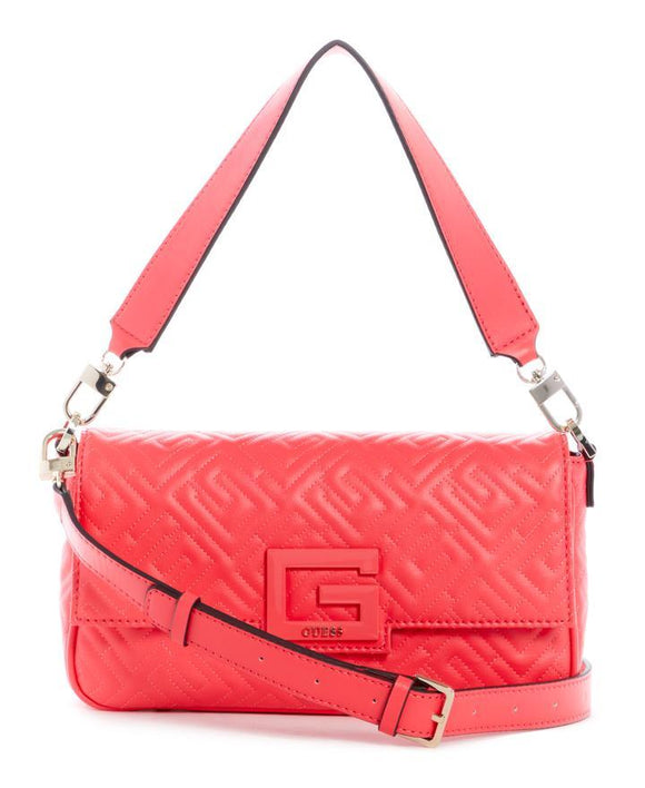 GUESS BRIGHTSIDE SHOULDER BAG CHERRY