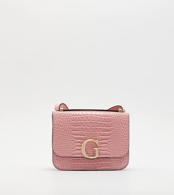 GUESS CORILY CONVERTIBLE CROSSBODY FLAP ROSE