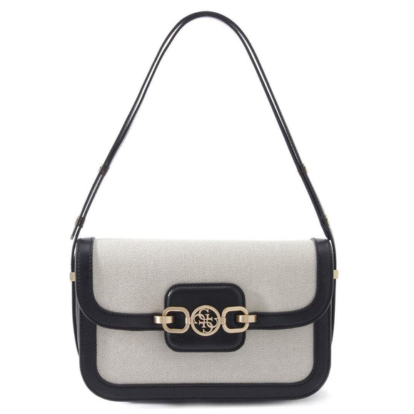 GUESS HENSELY CONVERTIBLE SHOULDER BAG BLACK MULTI