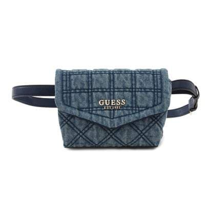 GUESS KAMINA CONVERTIBLE CROSSBODY BELT BAG DENIM