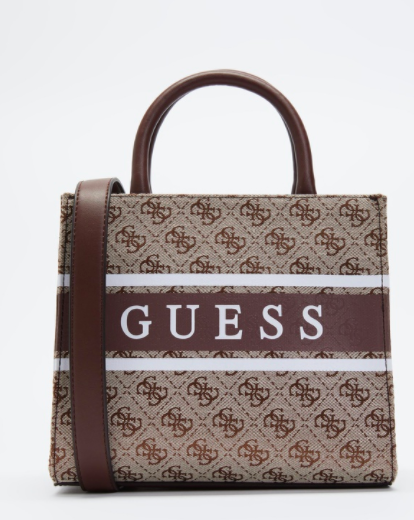 GUESS MONIQUE TOTE SMALL BROWN