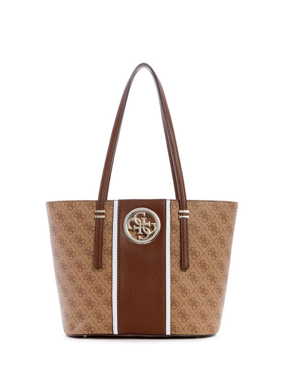 GUESS OPEN ROAD SMALL TOTE BAG BROWN
