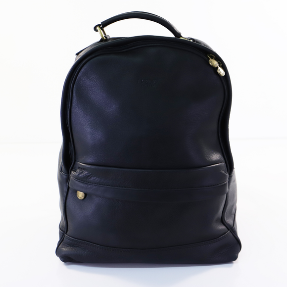 I MEDICI BACKPACK ROUND TOP ZIPPER FRONT BLACK