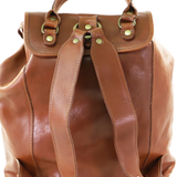 I MEDICI BACKPACK RUCKSACK DOUBLE BUCKLE TAN