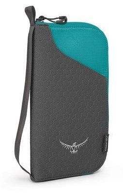 OSPREY RFID BLOCKING DOCUMENT ZIP PASSPORT WALLET TROPIC TEAL