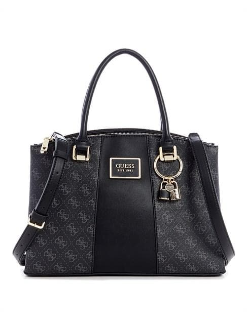 GUESS TYREN STATUS SATCHEL COAL