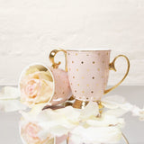 CRISTINA RE GOLD POLKA DOT BLUSH MUG
