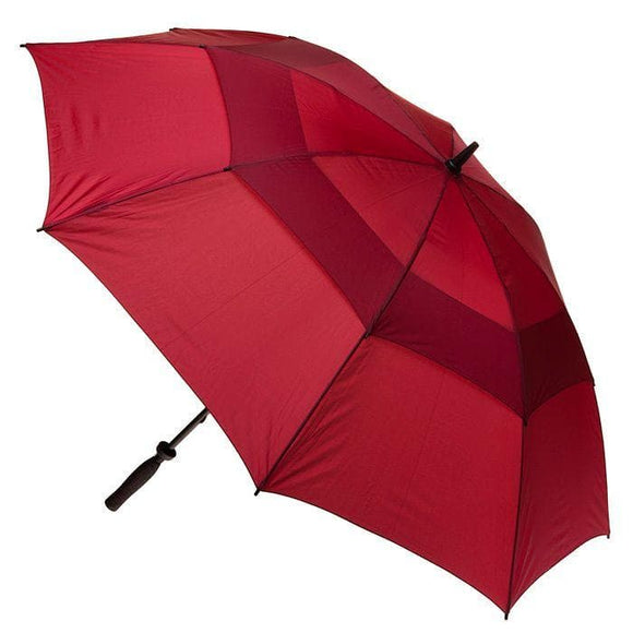 CLIFTON WINDPRO VENTED GOLF DOUBLE CANOPY UMBRELLA BURGUNDY