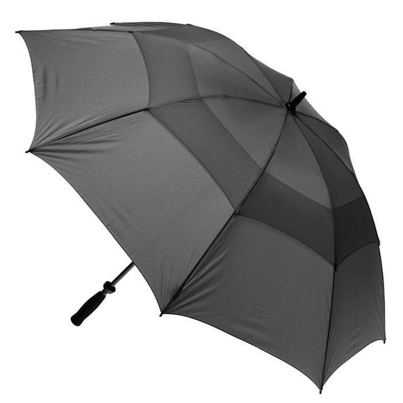 CLIFTON WINDPRO VENTED GOLF DOUBLE CANOPY UMBRELLA CHARCOAL
