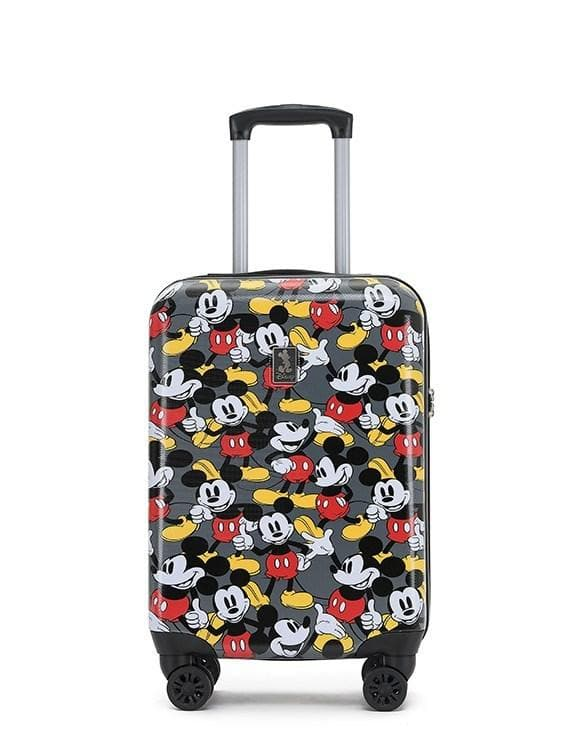 DISNEY MICKEY MOUSE HARDCASE CARRY ON SPINNER 19 INCH GREY