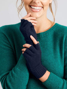 MERINO & CO HOLLER FINGERLESS GLOVES SMALL MILITARY NAVY