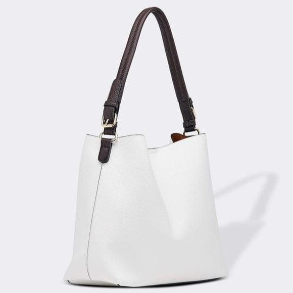 LOUENHIDE MICKEY SHOULDER BAG WHITE