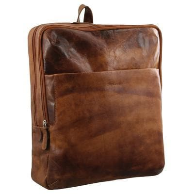 PIERRE CARDIN LEATHER BACKPACK COGNAC