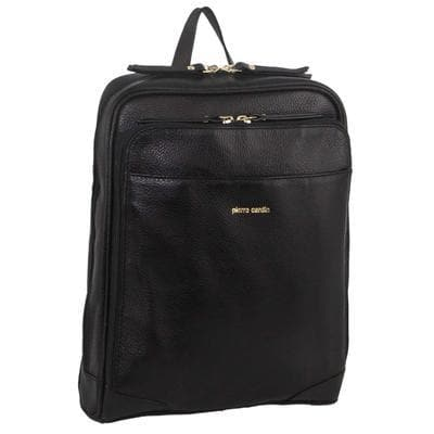 PIERRE CARDIN LEATHER BACKPACK BLACK