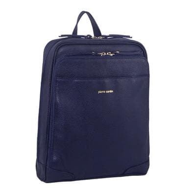 PIERRE CARDIN LEATHER BACKPACK NAVY
