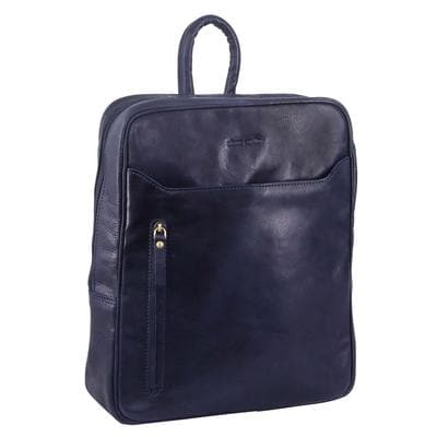 PIERRE CARDIN LEATHER BACKPACK MIDNIGHT