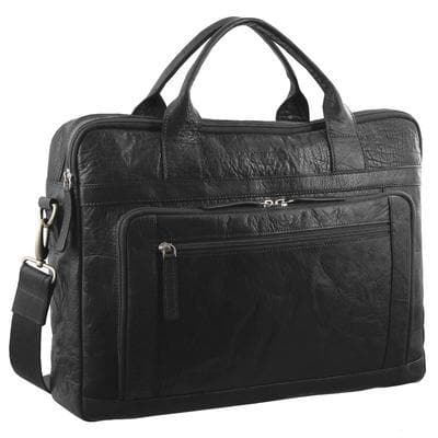 PIERRE CARDIN BUSINESS BAG BLACK