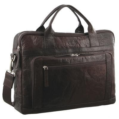 PIERRE CARDIN BUSSINESS BAG BROWN