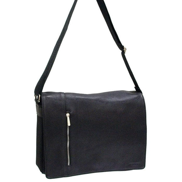 PIERRE CARDIN MESSENGER BAG BLK