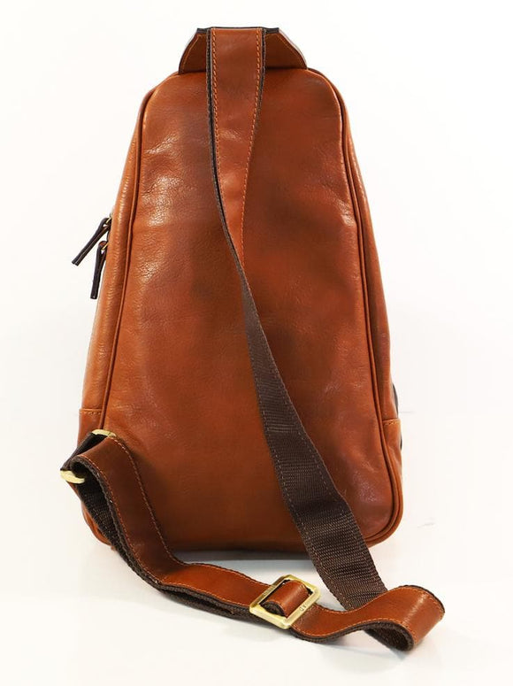 ADRIANO SLING BACKPACK TAN