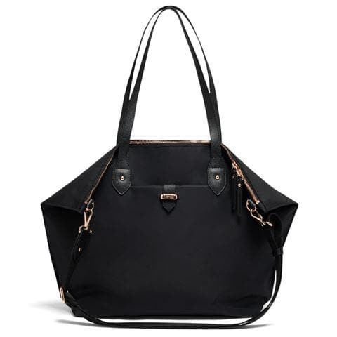 LIPAULT PLUME AVENUE TOTE BAG JET BLACK