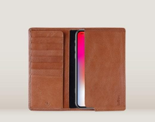 Toffee Sleeve Wallet Tan - iPhone 6 7 8 and X