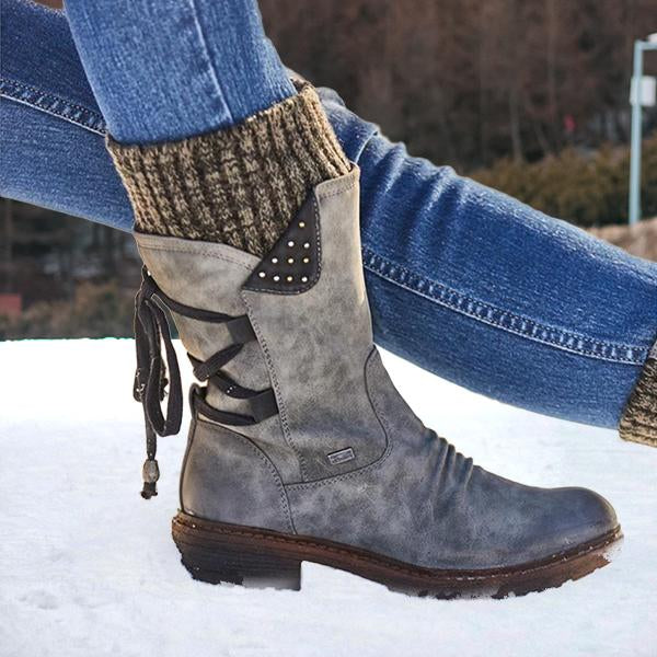🔥 NEW 🔥 Winter Warm Back Lace Up Boots