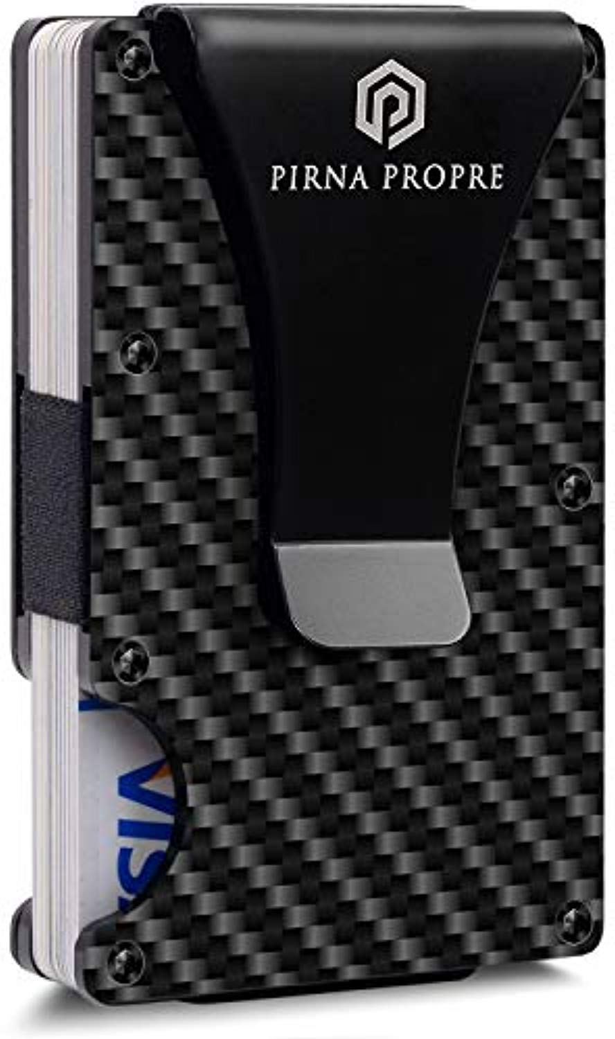 Carbon Fiber Wallet with Metal Money Clip