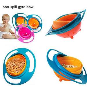Spill Resistant Gyro Bowl with Lid