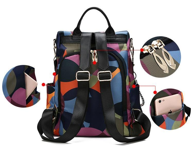 Colorful Anti Theft Backpack