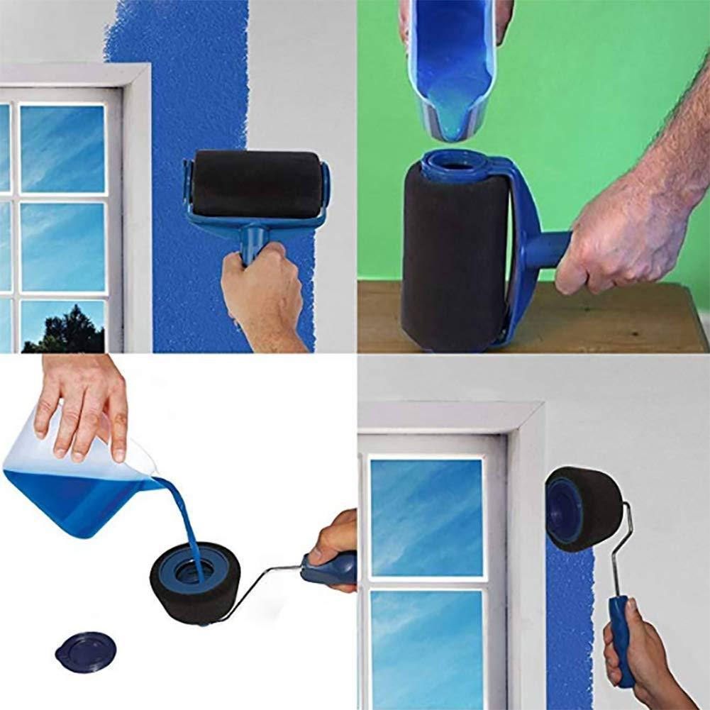 LuckyLife 6Pcs/set Multifunctional Wall Decorative Paint Roller Brush Tools