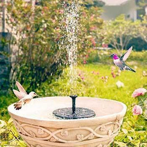 Solar-Powered Easy Bird Fountain Kit - Great Addition to Your Garden!