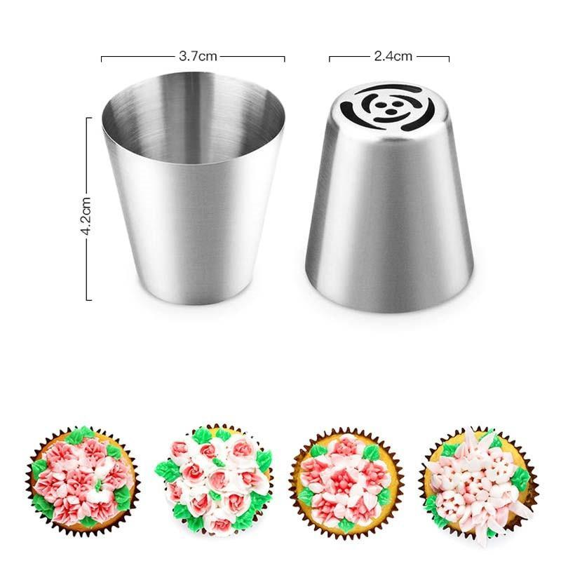 LuckyLife Icing Piping Nozzles - 7pcs Set