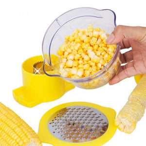 LuckyLife Multi-function Corn Stripper with Measuring Cup
