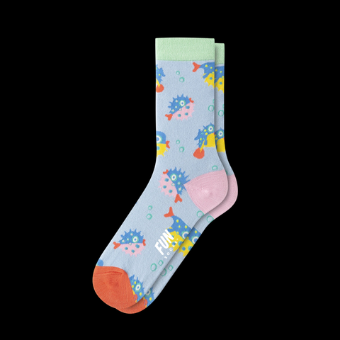 Crew Socks Blowfish Light Blue