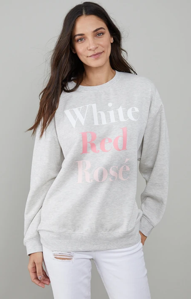 Alexa Sweatshirt Wht Red Grey