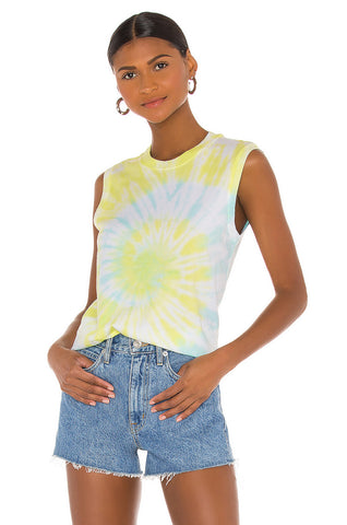 Classic Sleeveless Boy Tee - White Combo Tiedye