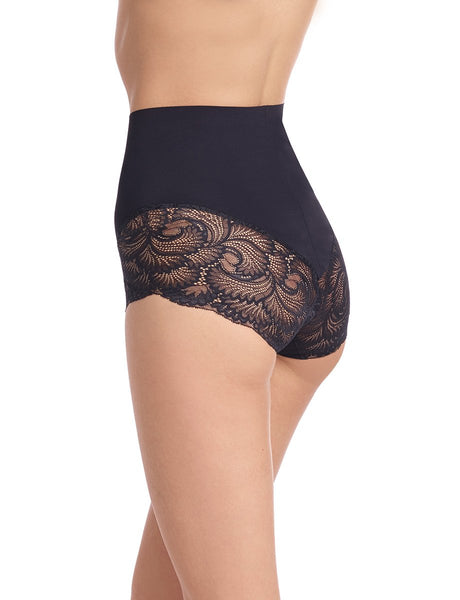 Sexy Smooth Lace Brief - Black