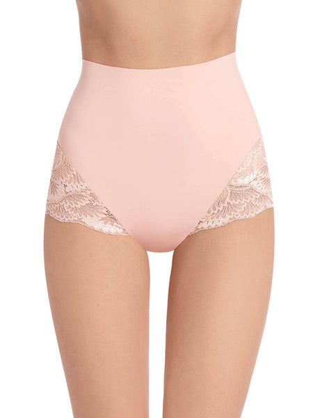 Sexy Smooth Lace Brief - Rose