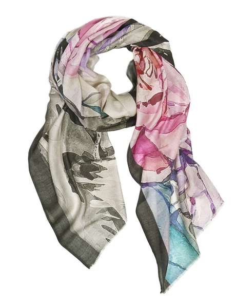 Cotton/Modal Scarf - Passion