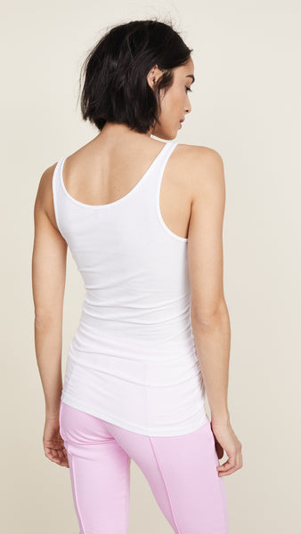 Ribbed Daily Tank - White