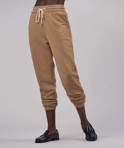 French Terry Pull On Pants - Dune