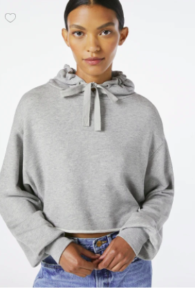 Crop Easy Hoodie - Heather Grey