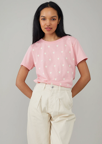 Jane Mini Stars Tee Rose Pink