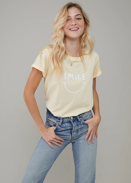 Jane Smile Tee - Vanilla