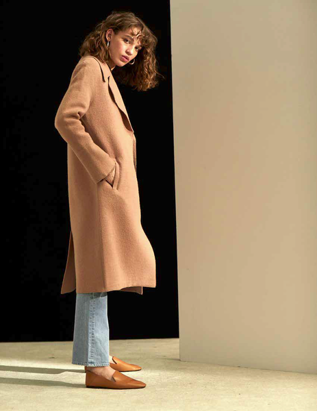 Lora Snap Coat - Camel
